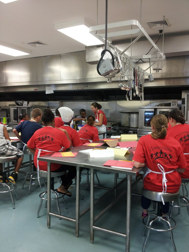 Teaching kitchen safety and cooking skills
